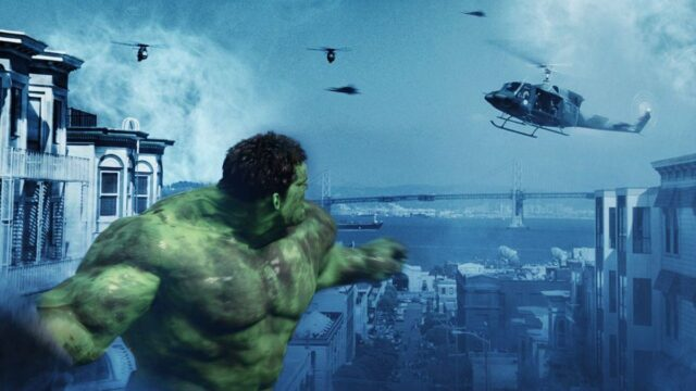 hulk contre des hélicoptères - 2003