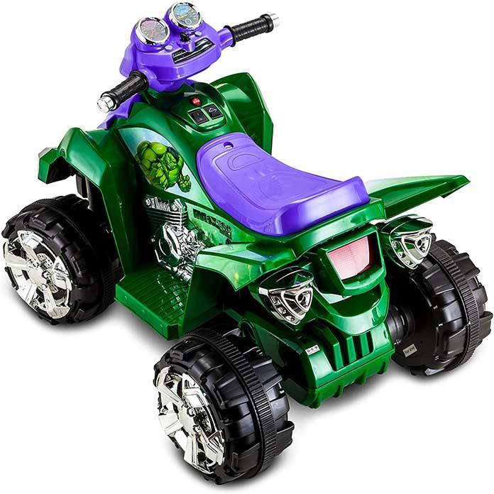 quad enfant hulk avengers vue arrière