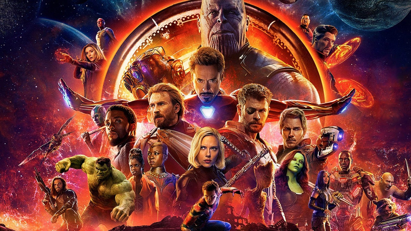 affiche large, Avengers : Infinity war 2018